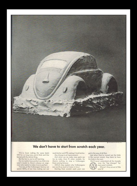 Vintage Print Ad May 1969 : Volkswagen Bug Cars Automobile