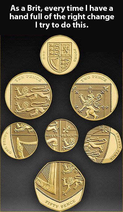 British coins… Australian ones are just as cool.