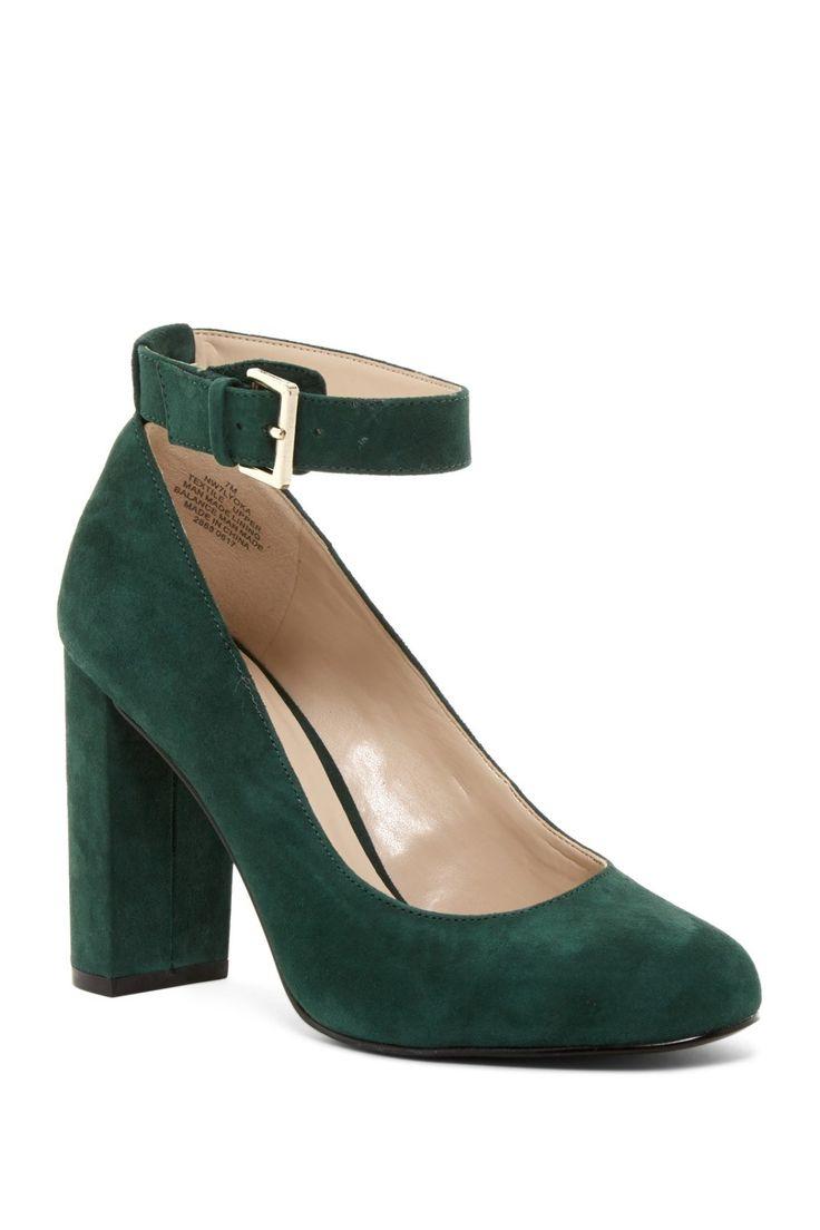 Holiday Green Nine West Lyoka Ankle Strap Pumps