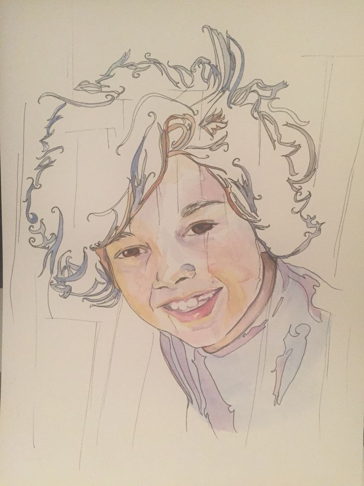 Watercolour and fineliner by Jen Hoddinott