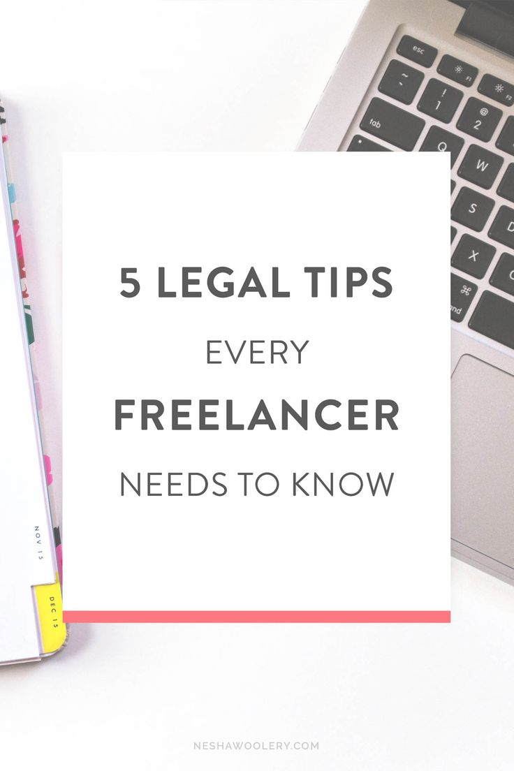 5 Legal Tips Every Freelancer Needs To Know. Want to legally protect your brand, projects and website but don't understand how? You know you need things like private policies and terms and conditions, but you're not sure how to create them? This post will explain how and give freelancers all the information and guidance they need! Click through to learn more + download free templates!