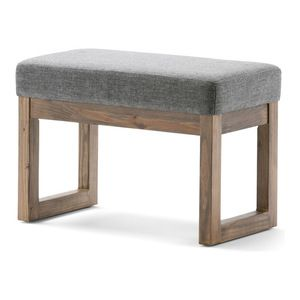 Simpli Home - Milltown Small Ottoman Bench - Footstools And Ottomans