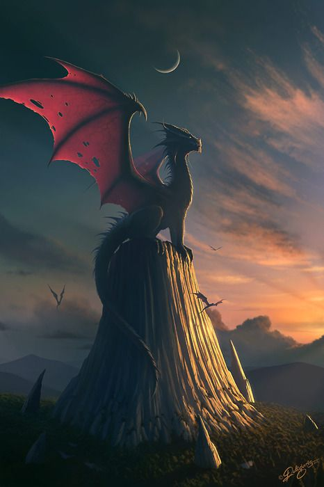 Dragon | by Nick Deligaris | via theartofanimation.tumblr.com