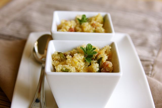 Quinoa With Zucchini, Pancetta & TomatoesSide Dishes, Name, Healthier Recipe, Lighter Choice, Italian Dishes, Cleaning Eating, Dinner Tonight, Beautiful Edible, Zucchini Pancetta