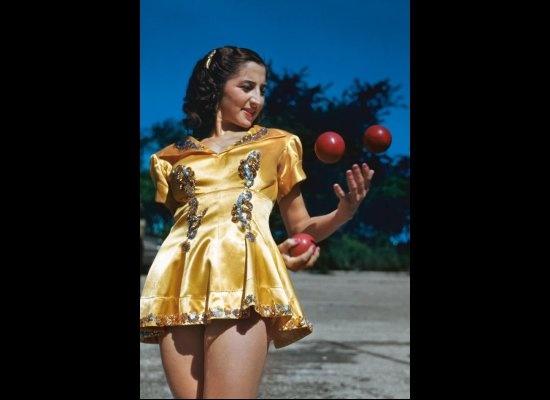 Juggler Lottie Brunn, Ringling Bros. and Barnum & Bailey, 1949