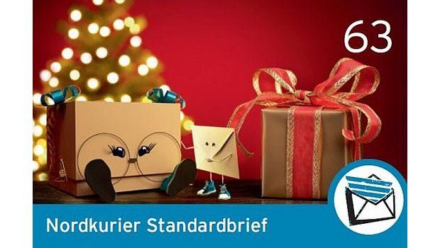 Rechtzeitig zur Weihnachtszeit hat dieNordkurier Mediengruppe am 21. November ihre 60. Sonderbriefmarke mit Fritz und Frieda, den beiden Maskottchen der Nordkurier Logistik Brief + Paket, veröffentlicht. Die Briefmarke mit dem Nordkurier-Standardbriefporto (63 Cent) ist einzeln oder zusammengefasst in nummerierten 10er-Bögen…
