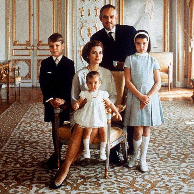 1969 a formal family portrait at the palace in monaco