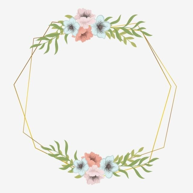 Wedding Flower Frame Frame Flower Flower Frame Png And Vector With Transparent Background For Free Download Flower Frame Png Flower Frame Watercolor Flower Wreath