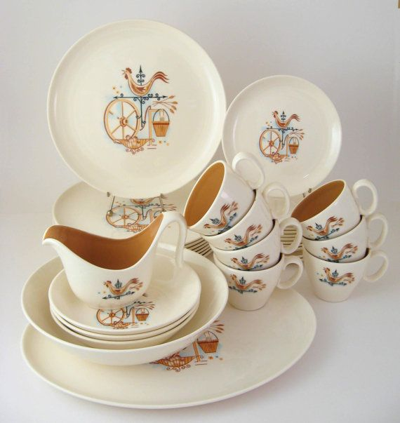 Vintage Dinnerware Set Taylor Smith & Taylor by WoolTrousers