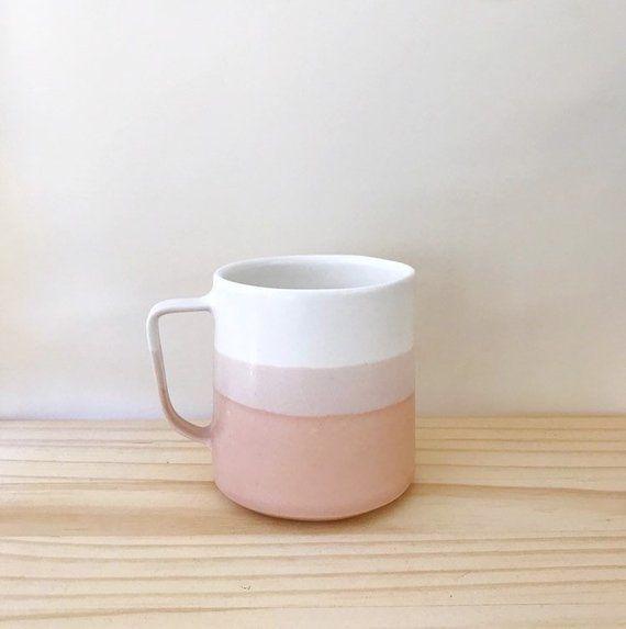 Modern Handmade Ceramic Coffee Mug Danish Design Style In Suede