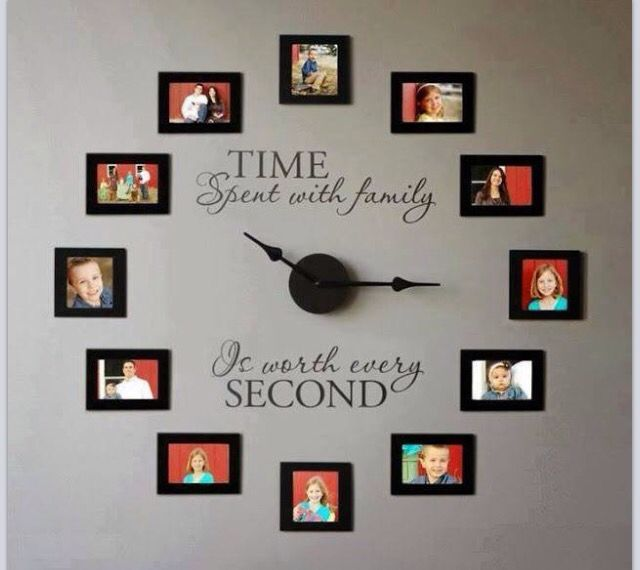 Love using pictures for a wall clock