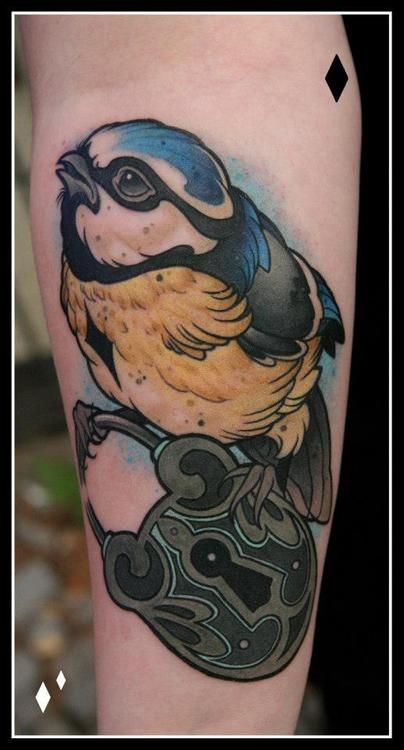 done by daniel genschBirds Ink, Little Birds, Colors Tattoo, Daniel Gensch I M, Tattoo Inspiration, Body Art, Body Modifications, Ink Inspiration, Colors Birds