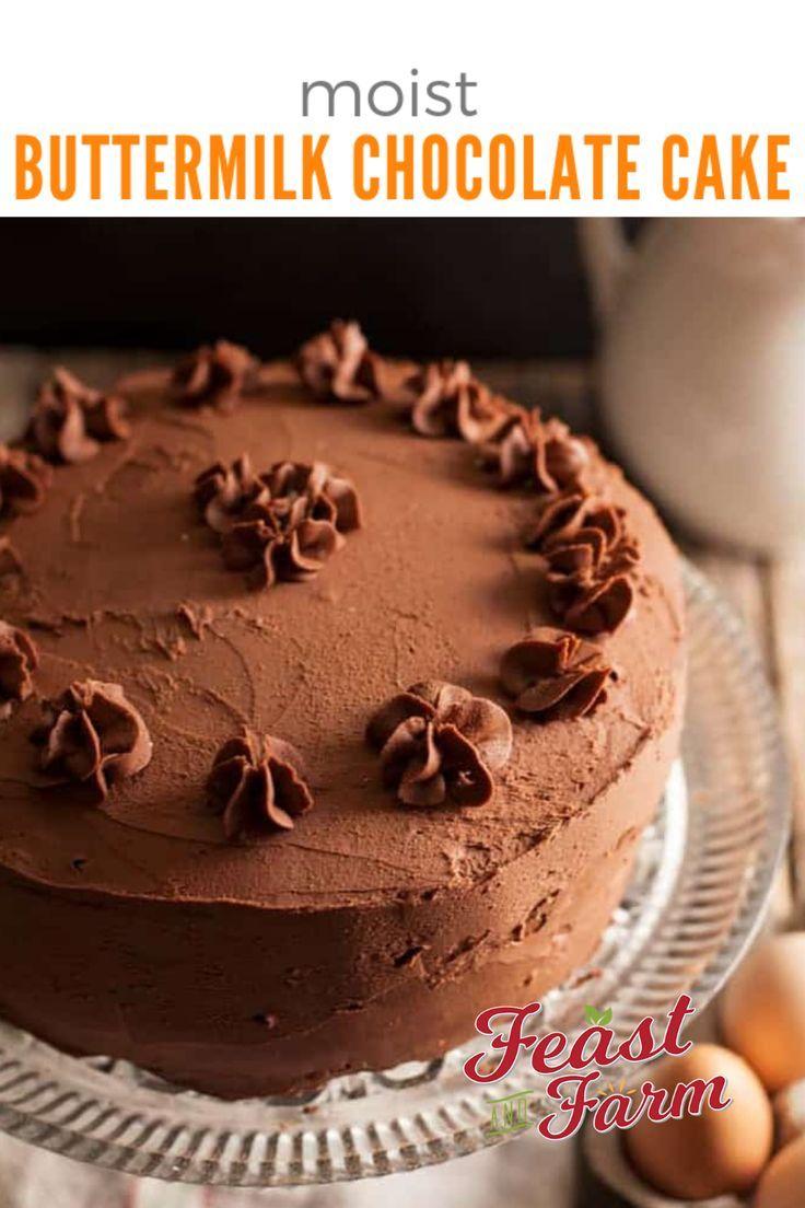 Buttermilk Chocolate Cake Recipe Buttermilk Chocolate Cake Cake Easy Desserts