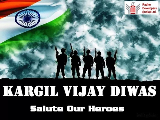 #KargilVijayDiwas, named after the success of Operation #Vijay. It is celebrated on #July26 every year in honour of the Kargil War's #Heroes. #RadheDevelopers
