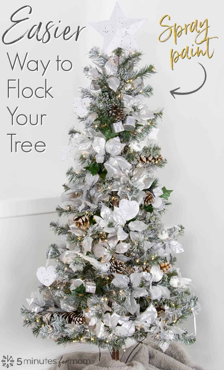 How To Spray Paint Your Christmas Tree 5 Minutes For Mom Christmas Tree Painting Rose Gold Christmas Tree Diy Christmas Tree Ornaments