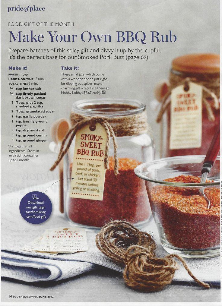 Smoky-Sweet BBQ Rub ~ Southern Living Magazine  http://www.myrecipes.com/recipe/smoky-sweet-bbq-rub-50400000121660/