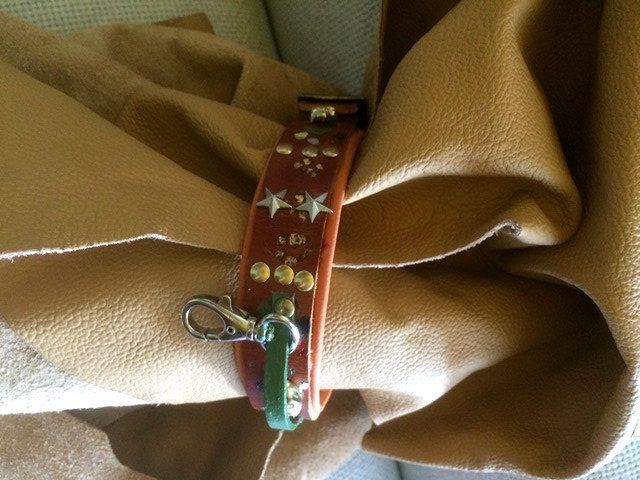 Luxury  Made in Italy leather  small size dog '' CANEM'' Collection by CaveCanemItaly on Etsy