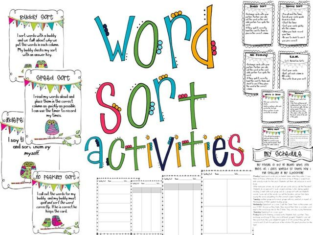 Words their Way - good blog for set up of WTW