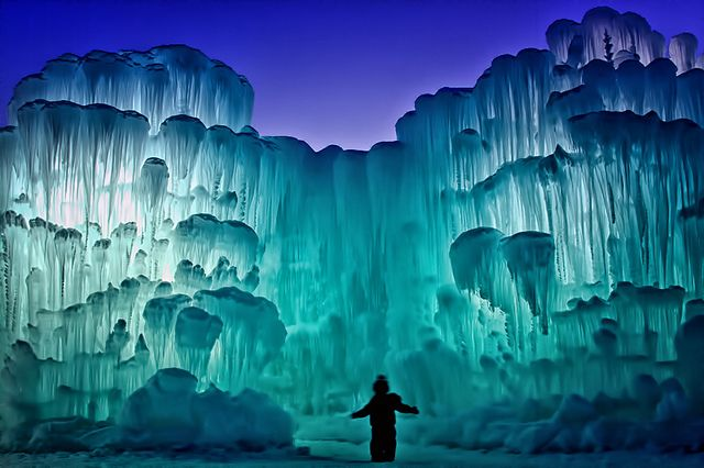 Ice Castles - Silverthorne, Colorado | The Castles and sculptures change daily. The owner, Ryan, expects the towers to be 40 ft high by February. by Teri Virbickis on Dec 18, 2011