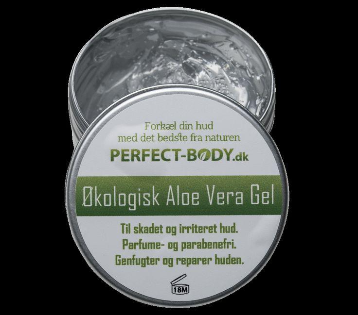 Økologisk Aloe Vera gel, uden parfume og parabener.Cremen indeholder ekstrakt fra Aloe Vera planten, som er kendt for sinde fantastiske egenskaber indenfor hudpleje.Hvad kan Aloe Vera Gel hjælpe mod?Cremen virker kølende, fugtgivende og afhjælper den røde farve, huden får ved skader.