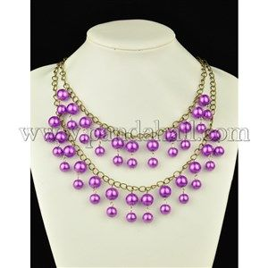 Caroline Pearl Chain Necklace in 2 Broke Girls | Pandahall Beads & Jewelry Blog