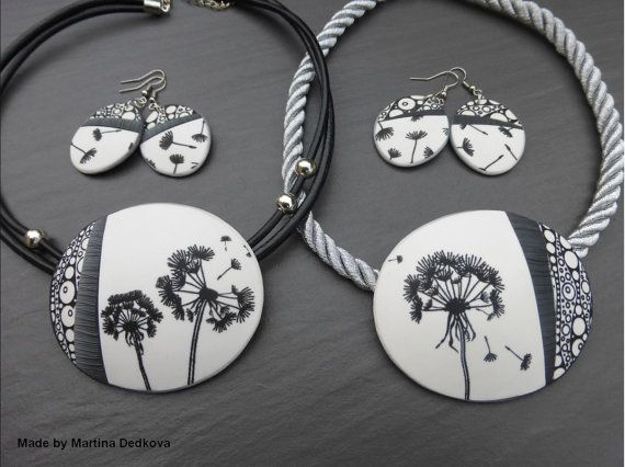 S08 Dandelions   TheRainbow Silkscreen for polymer clay Silk