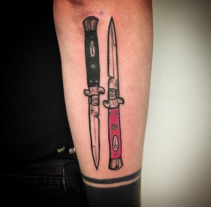 Stiletto Knife Tattoo Designs: 20 Best Knife Tattoo Images On Pinterest