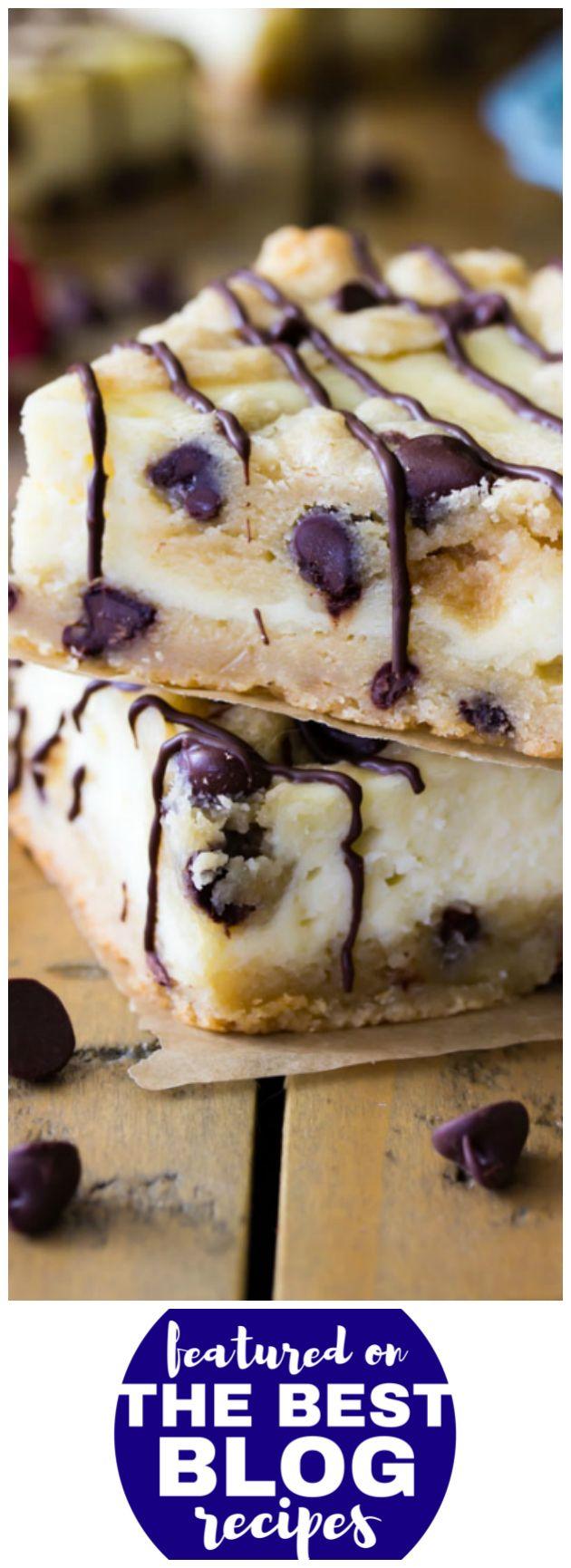 Chocoalte Chip Cookie Cheesecake Bars