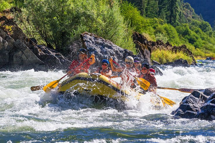 Digging in and lighting up! This is true Type One Fun on the Rogue River, Oregon. | Photo: James Kaiser.