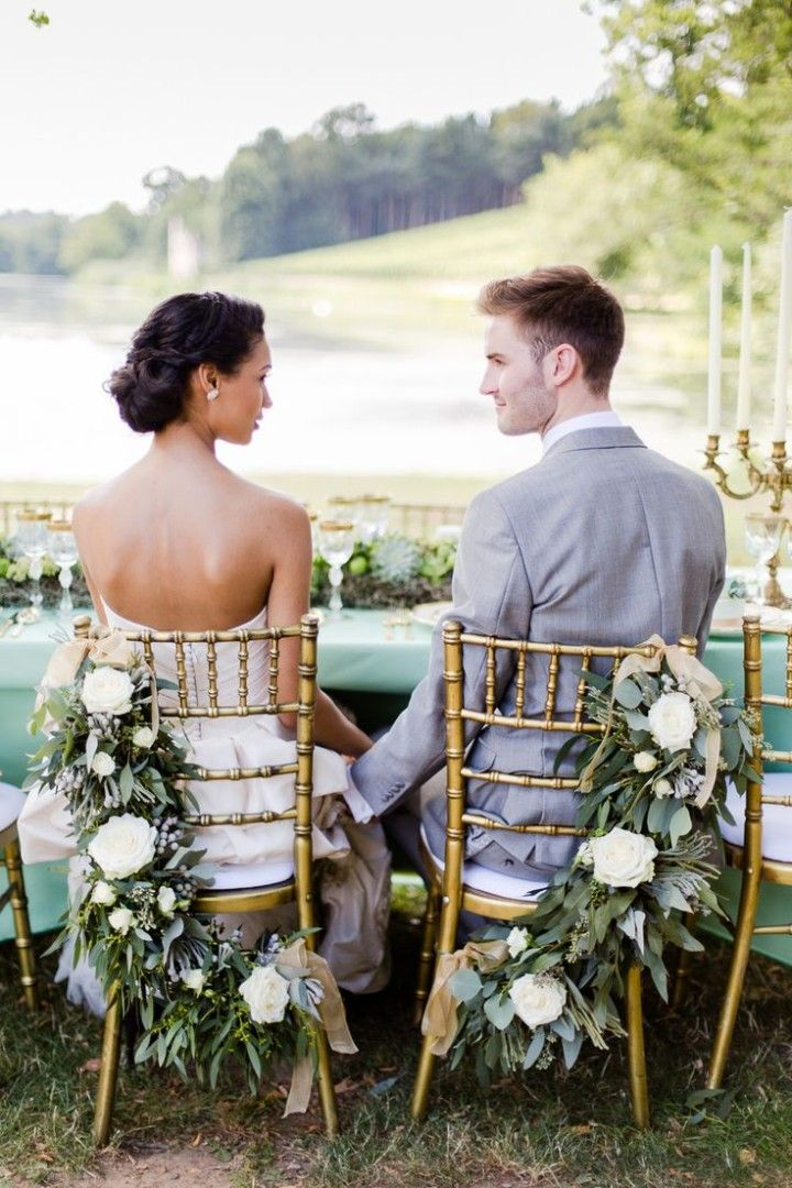50 Shades of Greyed Jade Wedding Ideas - wedding reception idea; Photography: Eddie Judd