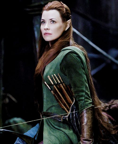 Evangeline Lilly as #Tauriel in #TheHobbit: #TheBattleOfTheFiveArmies.