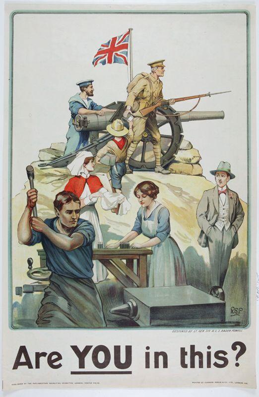 Affiche de propagande Anglaise.