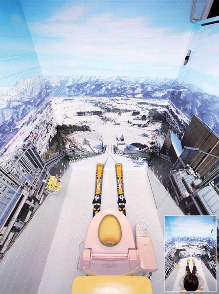 Baño Extremo: Salto en Esquí