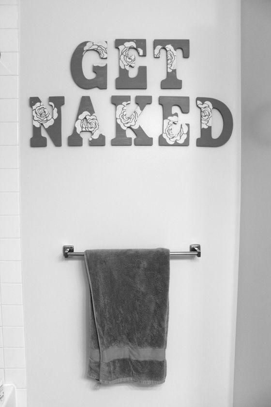 Cute DIY Bathroom Wall Art. Maybe not so much in guest bath but master def!