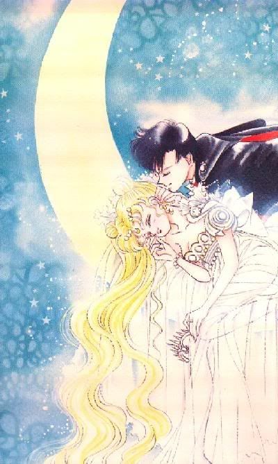 Princess Serenity and Tuxedo Mask from the Sailor Moon manga