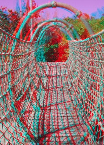 Rope Bridge (color) by Life is 3D, via Flickr