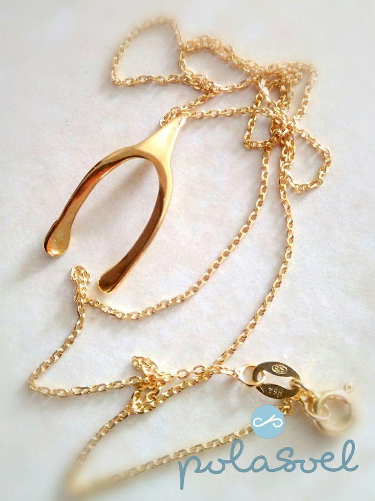 Chain neckalce ,Ηοrse shoe, silver 925 golden plated/silver/pink by polasoeljewelry on Etsy
