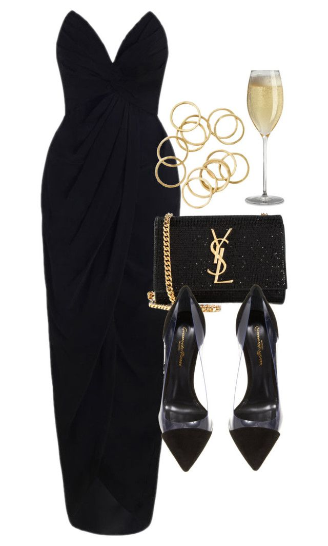 """""""Style #9916"""" by vany-alvarado ❤ liked on Polyvore featuring Zimmermann, Yves Saint Laurent and Gianvito Rossi"""