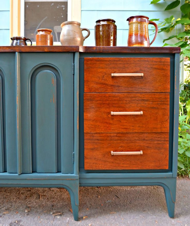 1000 images about painted mid century modern furniture for Painted mid century modern furniture