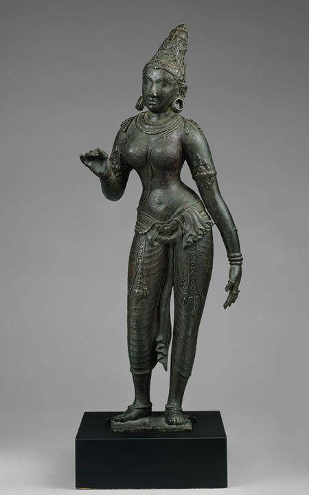 Standing Parvati, Chola period, ca 860-1279, Tamil Nadu, India