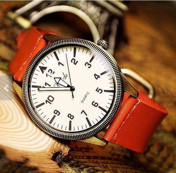 Stan vintage watches — Vintage Men's Women's Watch (WAT00109 - Orange)