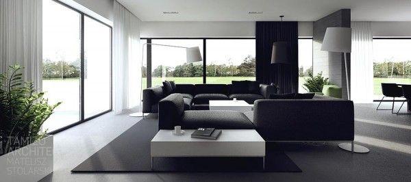 ¿Qué opinan de la relación entre las ventanas enormes y el espacio interior de esta sala?