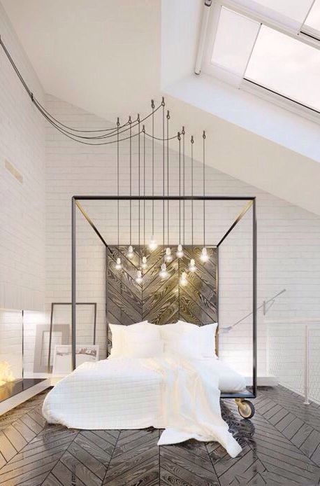 Dangled bulbs! Gorgeous! Perhaps could have similar for dining room  :)