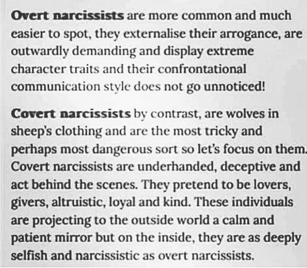 """Narcolert on Instagram: """"COVERT NARCISSISTS (most dangerous type of"""