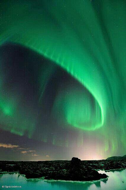 Qué les parece esta Aurora Boreal captada por Olgeir Andrésson desde Islandia?