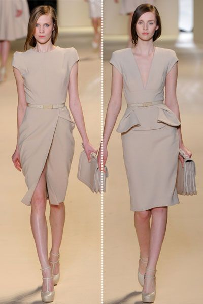 nude: Elie Saab, Offices Looks, Work Lunches, Ellie Will Be, 2011 Readytowear, Saab Fall, Offices Wear, Work Dresses, Sheath Dresses