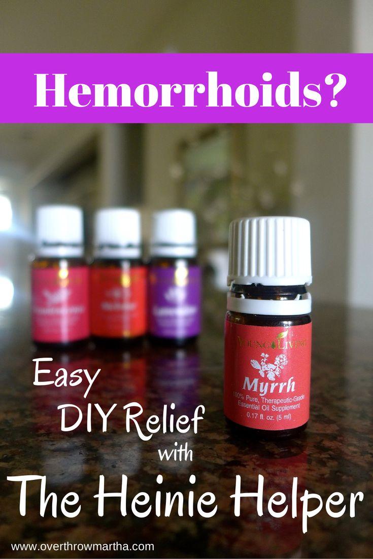 DIY Relief from Hemorrhoids: The Heinie Helper using essential oils #YLEO #Naturalremedy