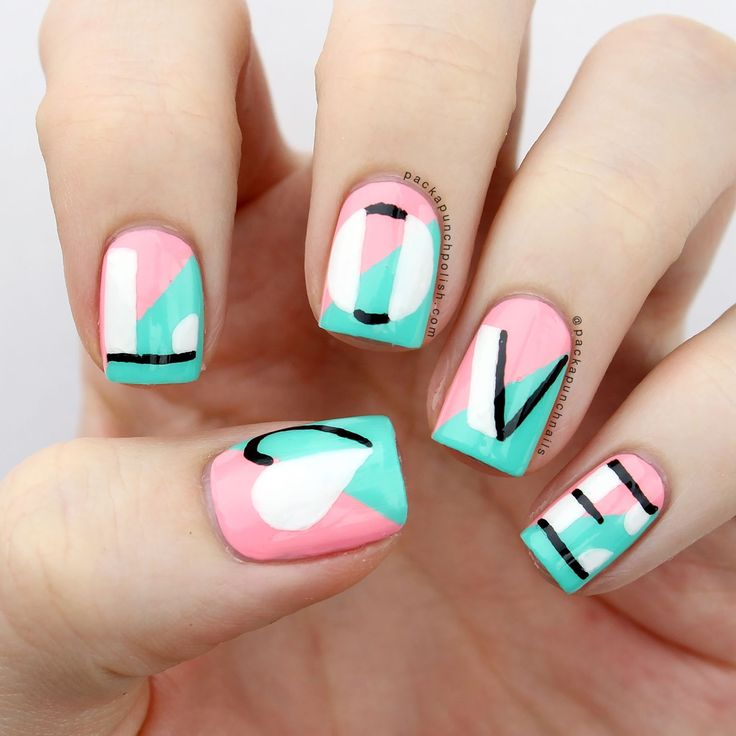 158 best Valentine\'s Day Nails images on Pinterest | Nail scissors ...