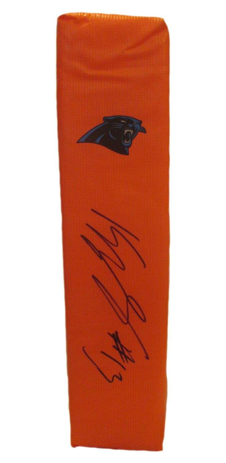 Kelvin Benjamin Autographed Carolina Panthers Full Size Football End Zone Touchdown. This is a brand-new custom Kelvin Benjamin signed Carolina Panthers full size football end zone pylon.  This pylon measures 4 inches (Width)  X 4 inches (Length) X 18 inches (Height).  Kelvin signed the pylon in black sharpie. Check out the photo of Kelvin signing for us. ** Proof photo is included for free with purchase. Please click on images to enlarge. Please browse our website for additional NFL & NCAA…