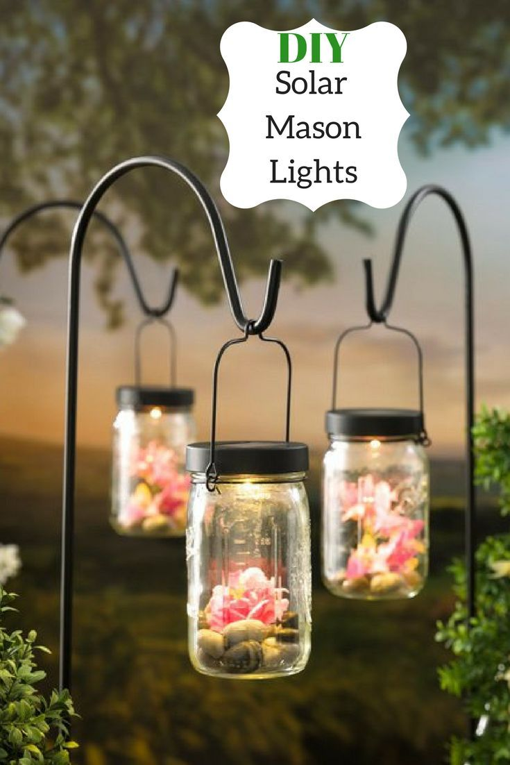 Create your own work of art with this solar mason jar light kit. Just add a jar and whatever elements you want to put inside for personalized #outdoor decor. #ad #solar #masonjars #diy